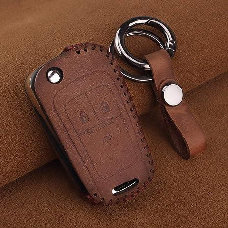 WUAIDING Caso Clave Llavero de Cuero Car Key Cover Case para ...
