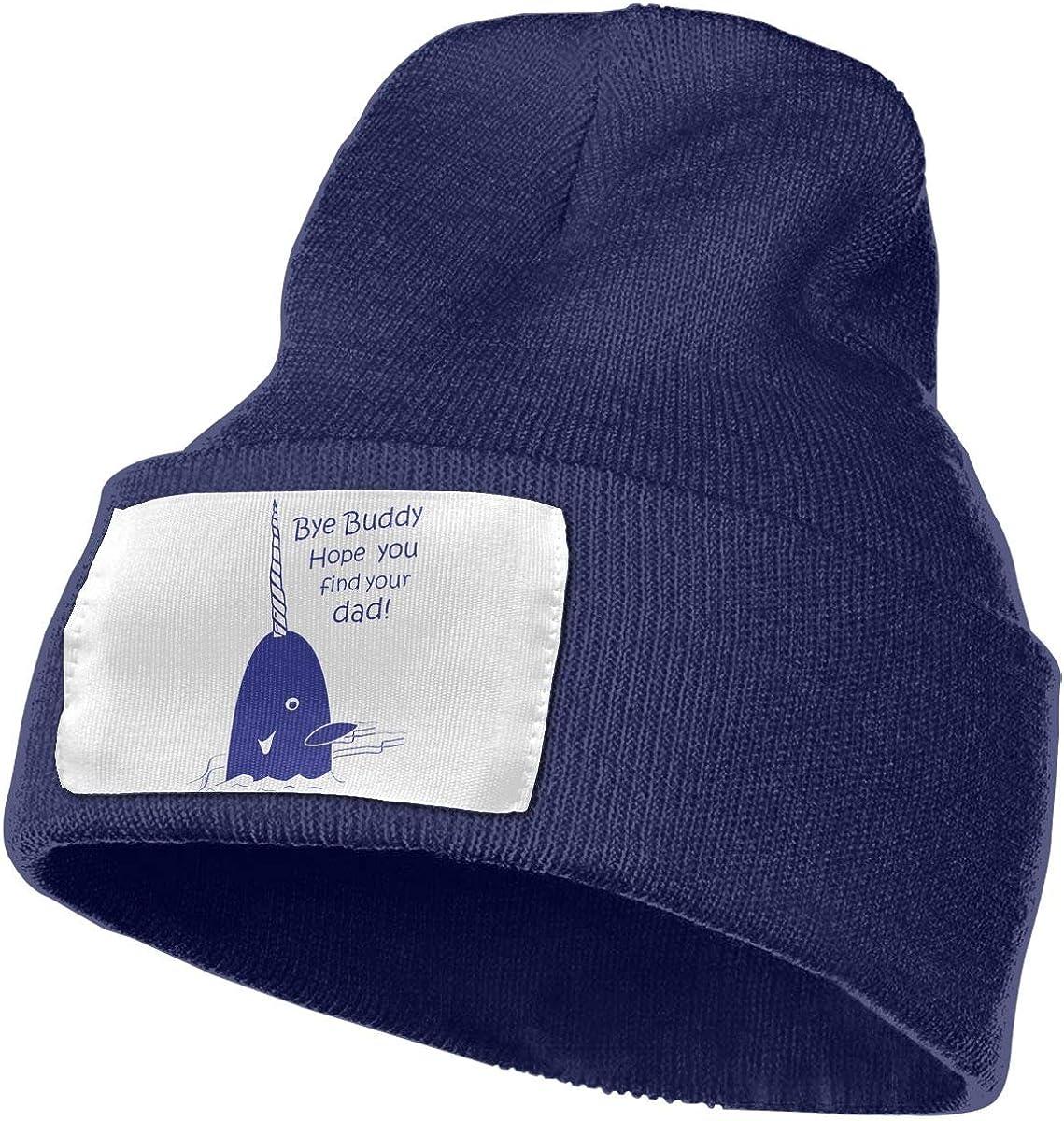 Bye Buddy Hope You Find Your Dad Men/&Women Warm Winter Knit Plain Beanie Hat Skull Cap Acrylic Knit Cuff Hat