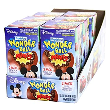 Amazon Com Disney Chocolate Wonderball Egg With Surprise Character