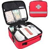 応急処置キット,プロフェッショナル 防水 プレミアム ナイロン 救急バッグ セパレーター付け