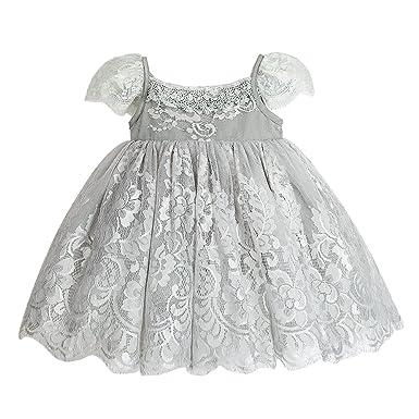 1c32f0a8c07 mubenshang Kids Print Flower Yarn Dress lace Dress Princess Dress Spring  Summer Dress (White