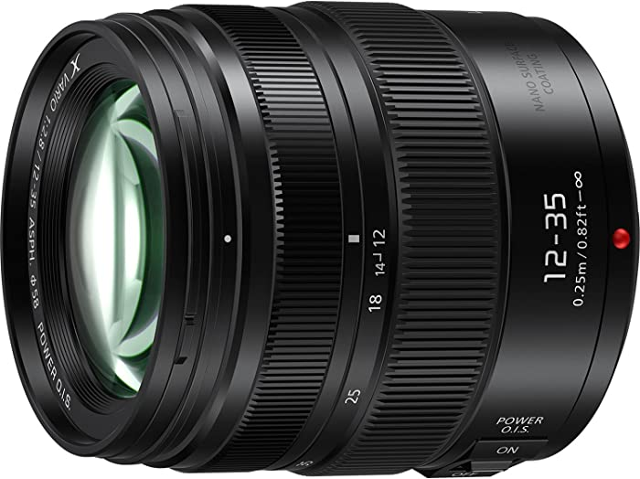 PANASONIC LUMIX Professional 12-35mm Camera Lens G X VARIO II, F2.8 ASPH, Dual I.S. 2.0 with Power O.I.S., Mirrorless Micro Four Thirds, H-HSA12035 (2017 Model, Black)