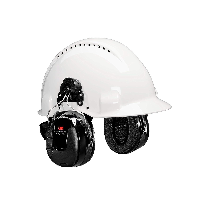 3M 00078371670887 Peltor Worktunes Pro Cap-Mounted Radio Headset, Capacity, Volume, Standard, Black