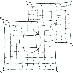 2 Pieces 3 x 3 Feet Flexible Net Trellis Durable Garden Grow Netting Green Elastic Trellis Netting with Hooks for 3 x 3 Feet, 4 x 4 Feet and More Size Grow Plant Tents