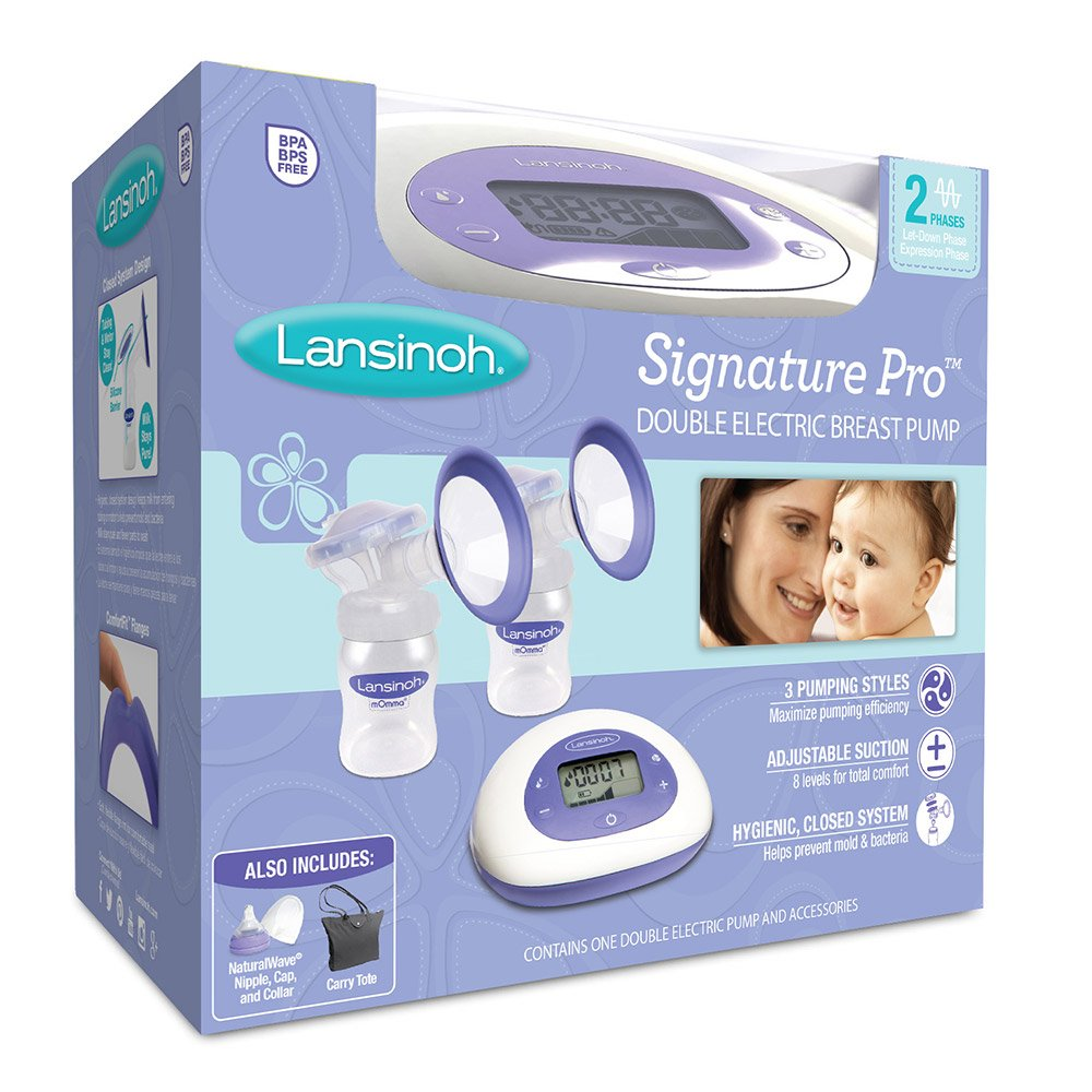 Lansinoh Signature Pro Double Electric Breast Pump With LCD Screen, Hygienic Closed System Design, Adjustable Suction Levels And Customizable Pumping Styles For Maximum Milk Production by Lansinoh (Image #1)