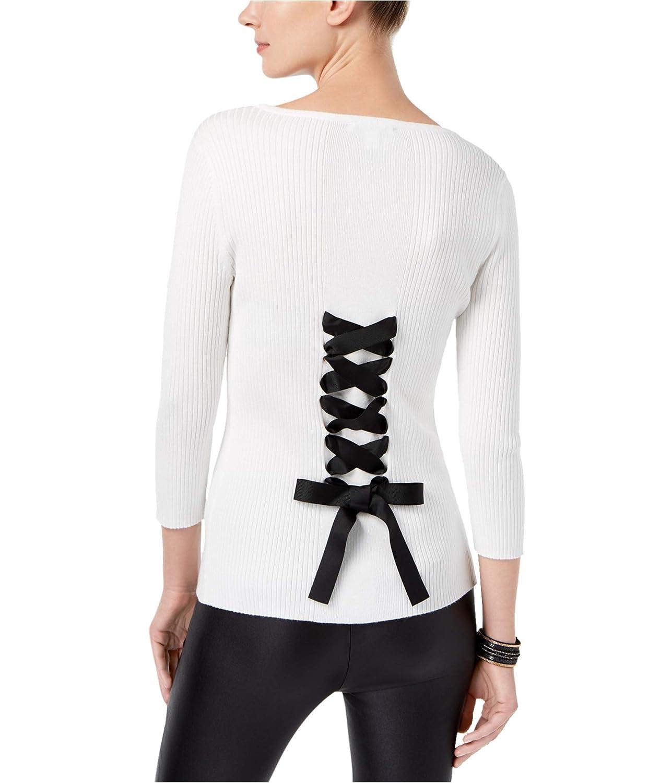 Washedwhite INC Womens Cpinkrt Back Knit Sweater