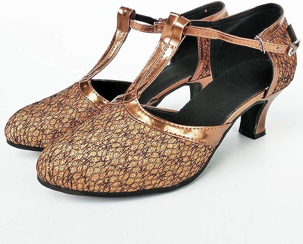 XEDUO Women Ballroom Tango Latin Salsa Dancing Shoes Sequins Shoes Social Dance Shoe