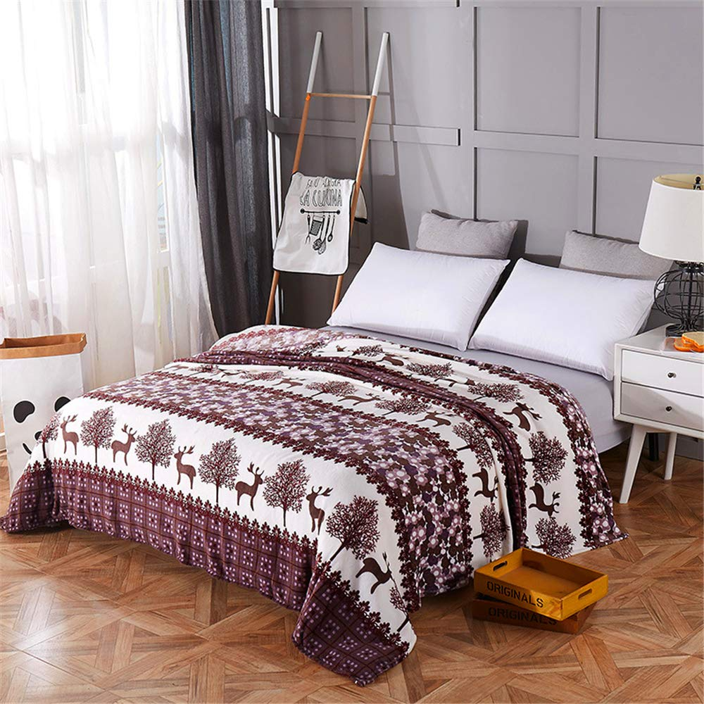 Flannel Blanket Autumn and Winter Student Dormitory Soft Skin Friendly Comfortable Microfiber Two Emotions 180200cm by iangbaoyo