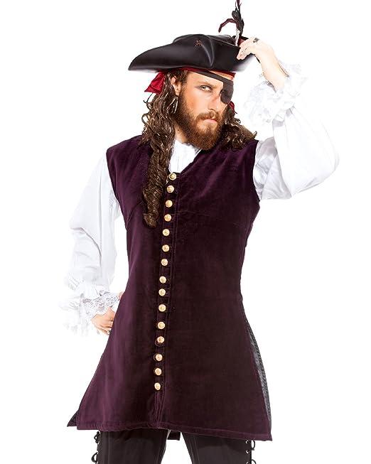 ThePirateDressing Pirata Medieval Renacimiento Capitán Anstis Chaleco Chaqueta  Disfraz  C1424   Amazon.es  Ropa y accesorios b655fe9c2d96