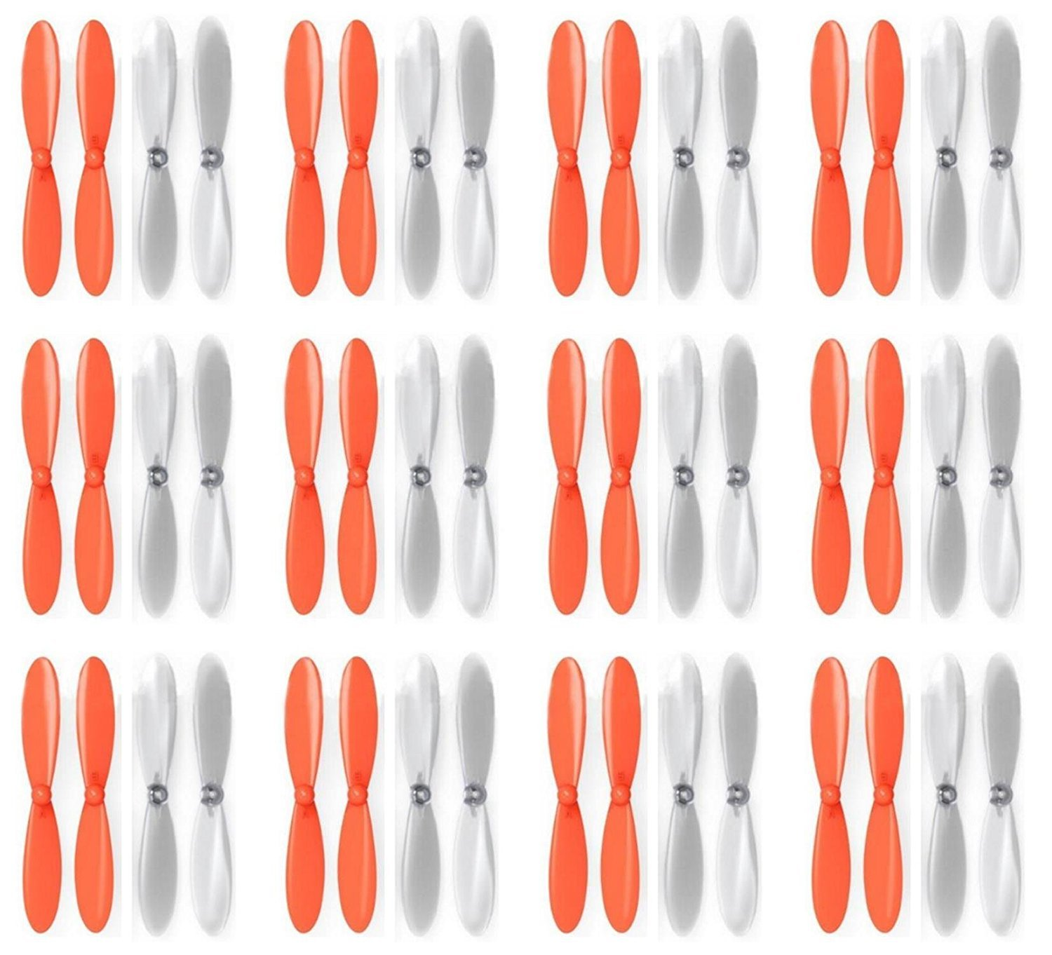 12 x Quantity of Estes Dart Orange Clear Propeller Blades Props Propellers Transparent - FAST FROM Orlando, Florida USA
