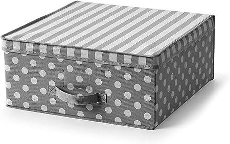Voilà. Trend Caja Media, Tela, Gris, 45 x 45 x 20 cm: Amazon.es: Hogar