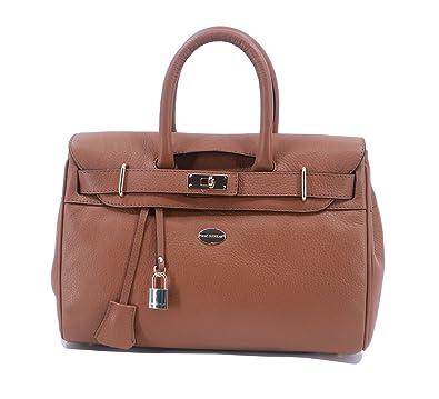 d6671091b48 Sac à main Mac Douglas Pyla Venta XS cuir de vachette (Chatain ...
