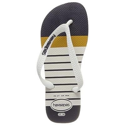 Havaianas Unisex Adults' Top Nautical Flip Flops, White 0198, 12.5 UK | Sandals