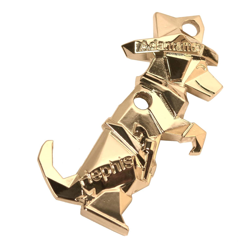 hephis Labrador Keychain Bottle Opener,Tape Cutter,Unpacker,Heavy Duty Car Keychain West Cowboy(Gold)