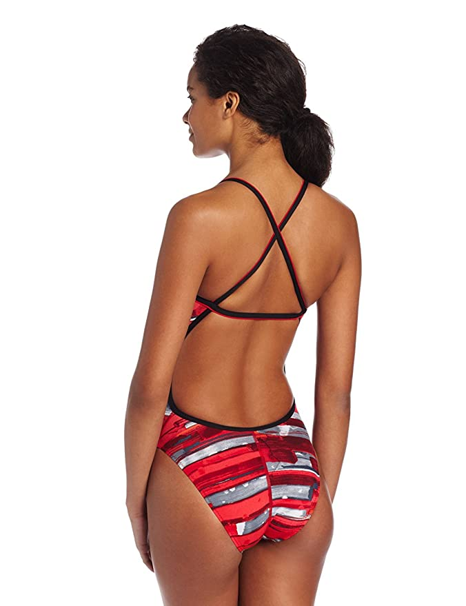 Amazon.com: Speedo Womens Color Stroke Cross Back Endurance Swimsuit, Red, 26: Clothing