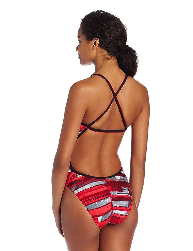 Amazon.com: Speedo Womens Color Stroke Cross Back Endurance Swimsuit, Red, 26: Clothing