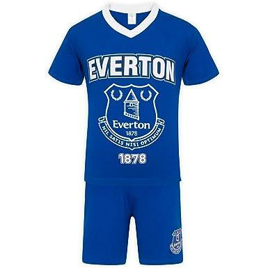 06e413ed Everton FC Official Football Gift Boys Short Pyjamas: Amazon.co.uk: Clothing