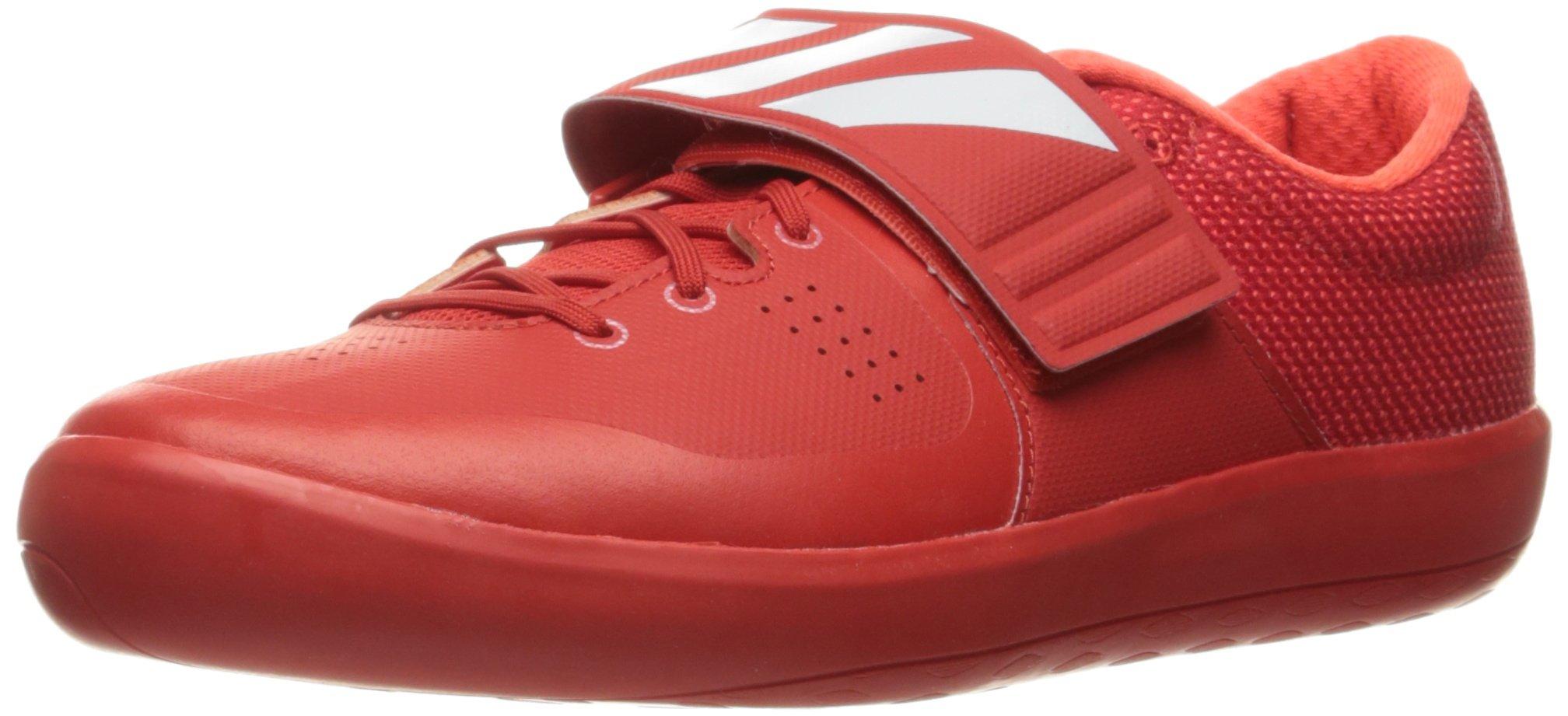 adidas Adizero Shotput Track Shoe, Red/White/Infrared, 9.5 M US