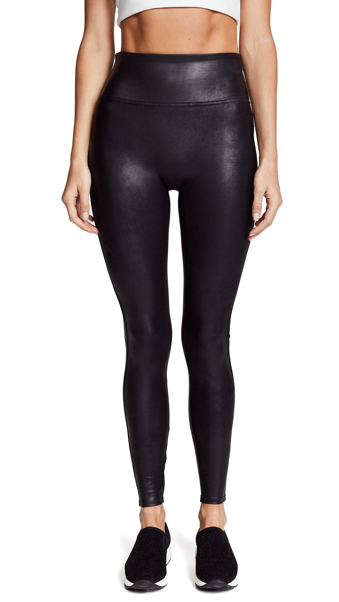 Spanx Women's Ready-to-Wow!? Faux Leather Leggings Black MD X 30
