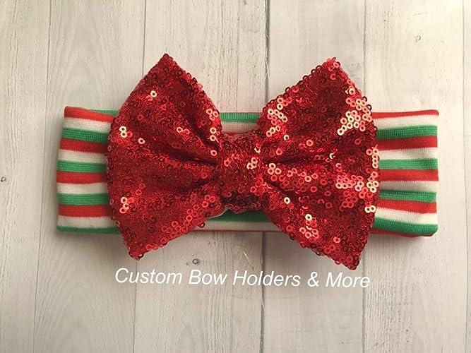 Amazon com: Christmas Baby Turban Baby Headband, Red Sequin
