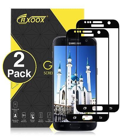 CRXOOX Protector de Pantalla para Samsung Galaxy S7, [2 Unidades], Anti-
