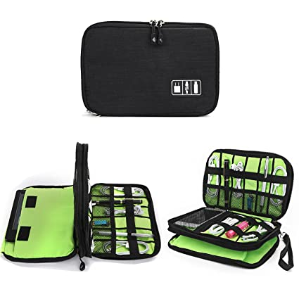 Cable Organizer Bag, Jelly Comb Electronic Accessories Double Layer Travel  Organizer Bag Waterproof USB Cable