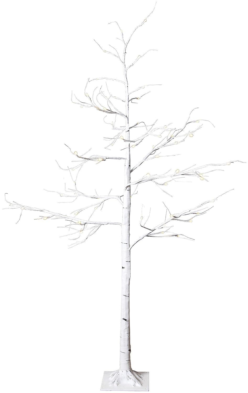 Star LED Tobby Tree Birch, Plastic, White, 150 x 50 cm Best Season 860-80