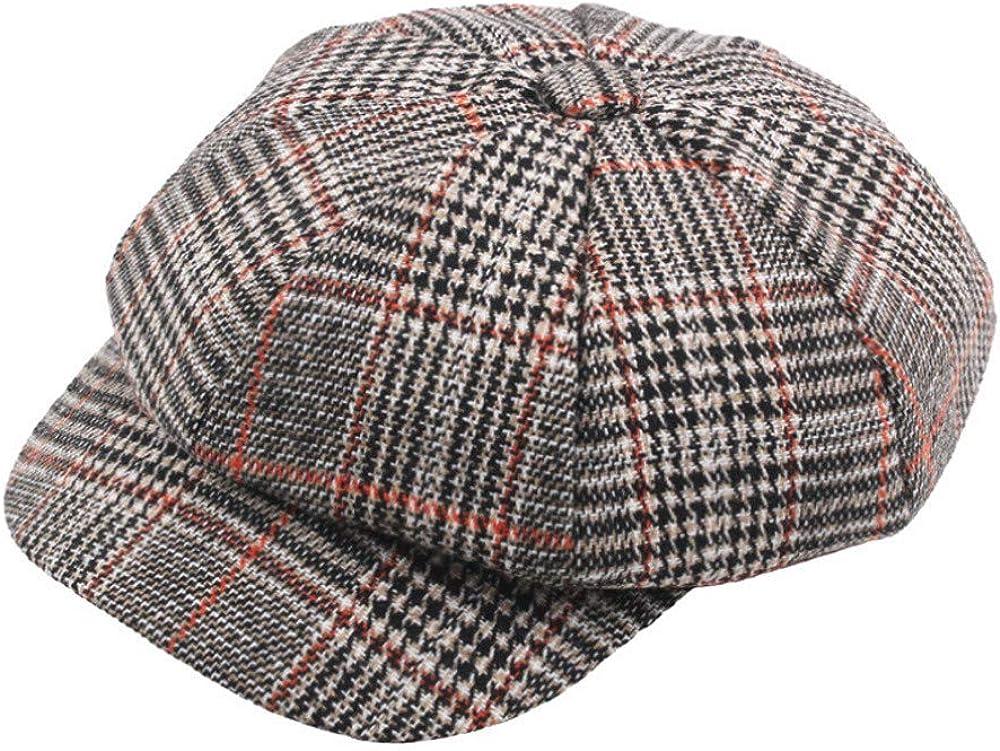 YanHoo Cappelli Cappello in Maglia di Lana Scozzese,Baseball Beretto da Uomo Unisex Vintage da Baseball in Twill di Cotone Vintage Unisex