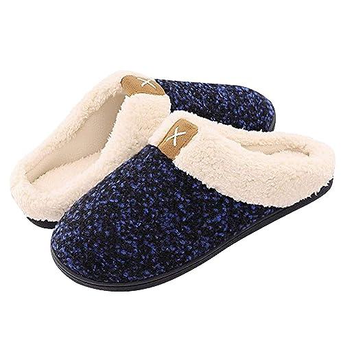 TUONROAD Pantofole Donna Uomo Invernale Caldo Peluche Cotone Casa Scarpe Memory Foam Antiscivolo Interno All'aperto Scarpe