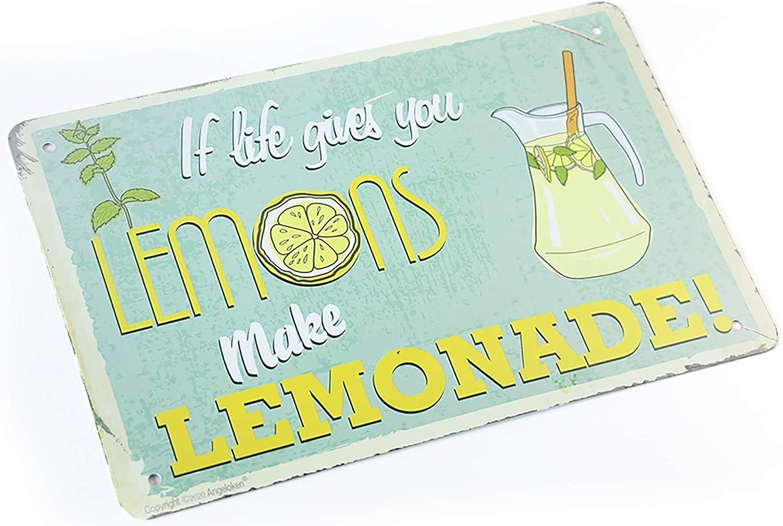 MeowPrint If Life Gives You Lemons Make Lemonade Tin Signs 12 x 8Inch