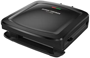 George Foreman Rapid Grill Series, 4-Serving Removable Plate Electric Indoor Grill and Panini Press, Black, RPGF3601BKX