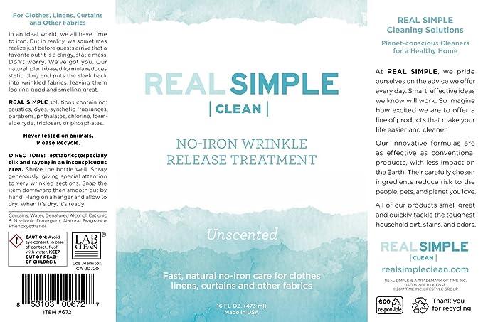 Amazon.com: Liberación de arrugas fácil de limpiar ...