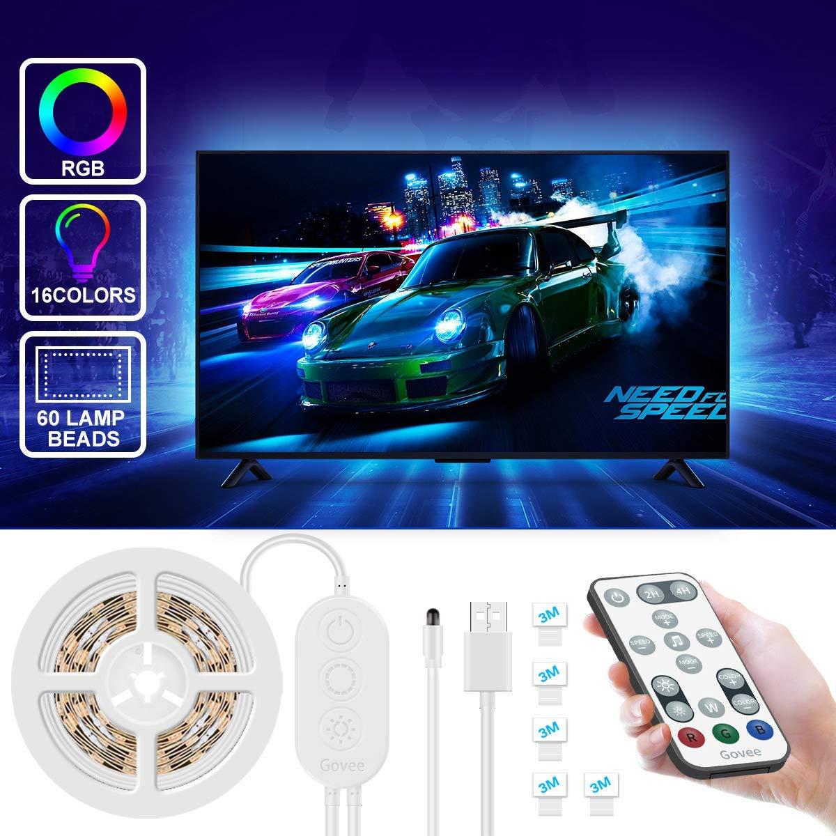 Govee Retroilluminazione TV LED 2M RGB USB con Telecomando