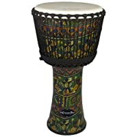 """World Rhythm 12"""" Djembe Drum in Green - African Synthetic Djembe Drum"""
