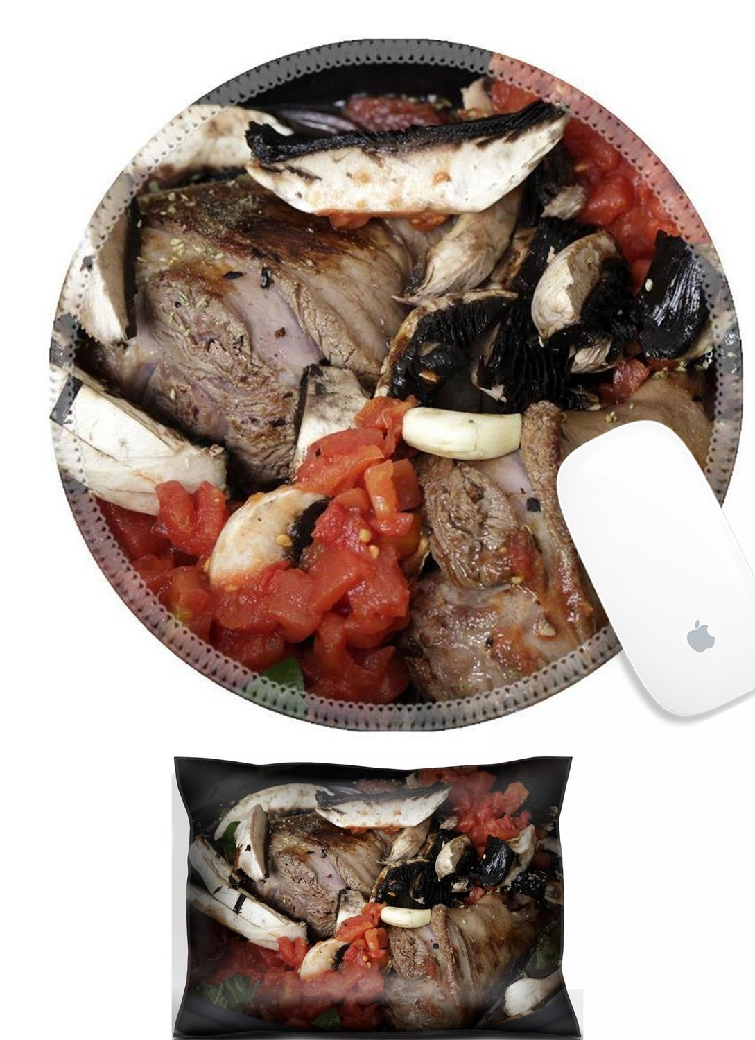 Luxlady Mouse Wrist Rest and Round Mouse Wrist Set IMAGE: 25865932 Two lamb shanks lightly browned ready for cooking in a slow cooker or crockpot with mushrooms tomatoes basil red wine and stock