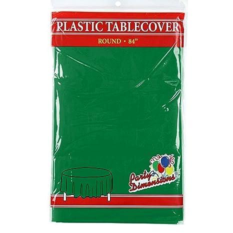 Amazon.com: Redondo Mantel de plástico – Calidad Premium ...