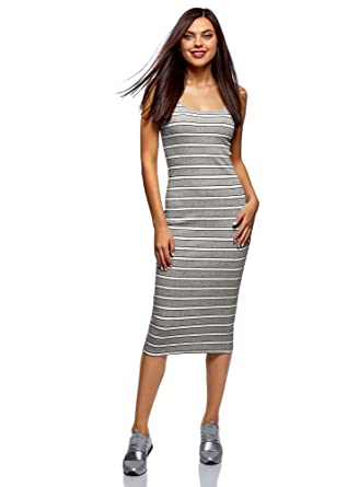 a029cb387ae1 oodji Ultra Femme Robe Mi-Longue à Bretelles  Amazon.fr  Vêtements ...