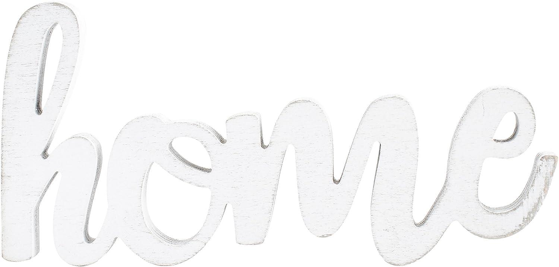 Hampton Art Home Jillibean Soup Mix The Media Wood Script White