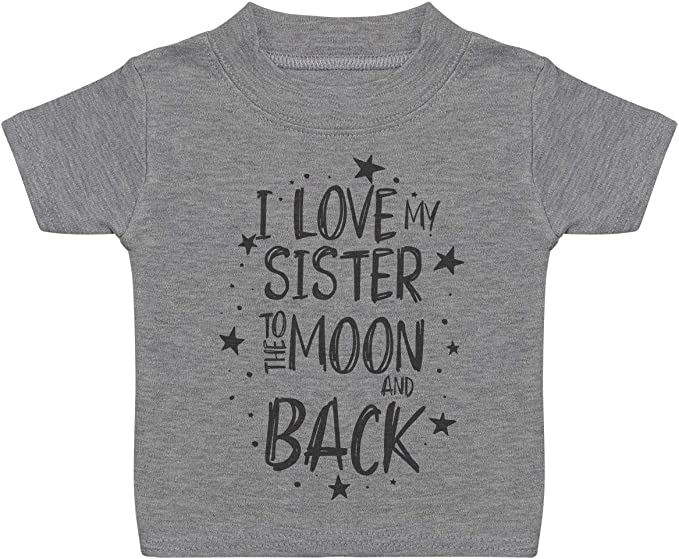 Baby Girl Romper Zarlivia Clothing I Love My Brother to The Moon and Back Baby Boy Romper Baby Romper