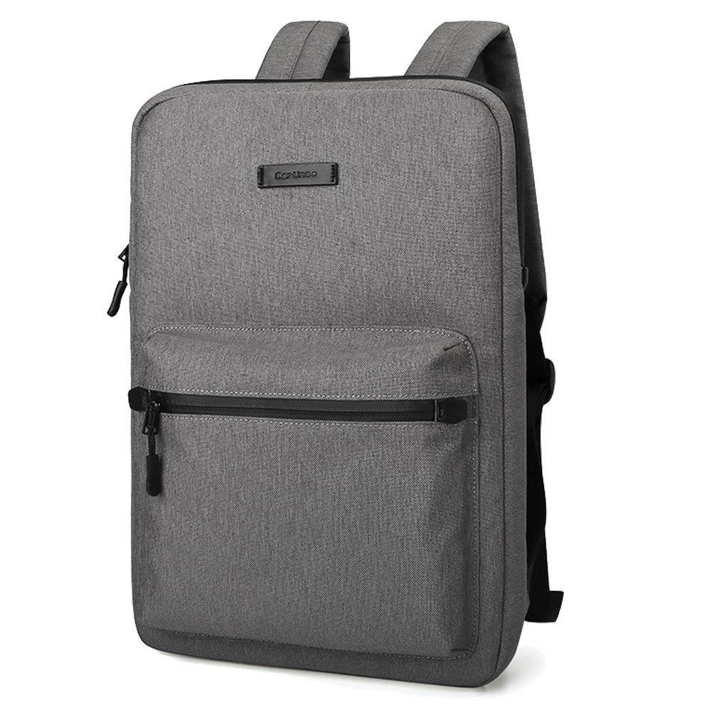 YiYiNoe Ultrathin Business Shoulders Sleeve for 15 inch Laptop Mac Ultrabook,Backpack for Office Worker,Dark Grey