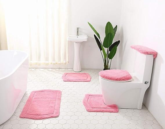 Flower Printings Carpet Bathroom Rug Mats Anti-slips Bottom Bath Mat Carpets New
