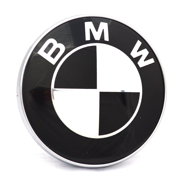 Emblema de BMW para maletero, 82 mm, 2 pines, blanco y negro Autobadgesuk