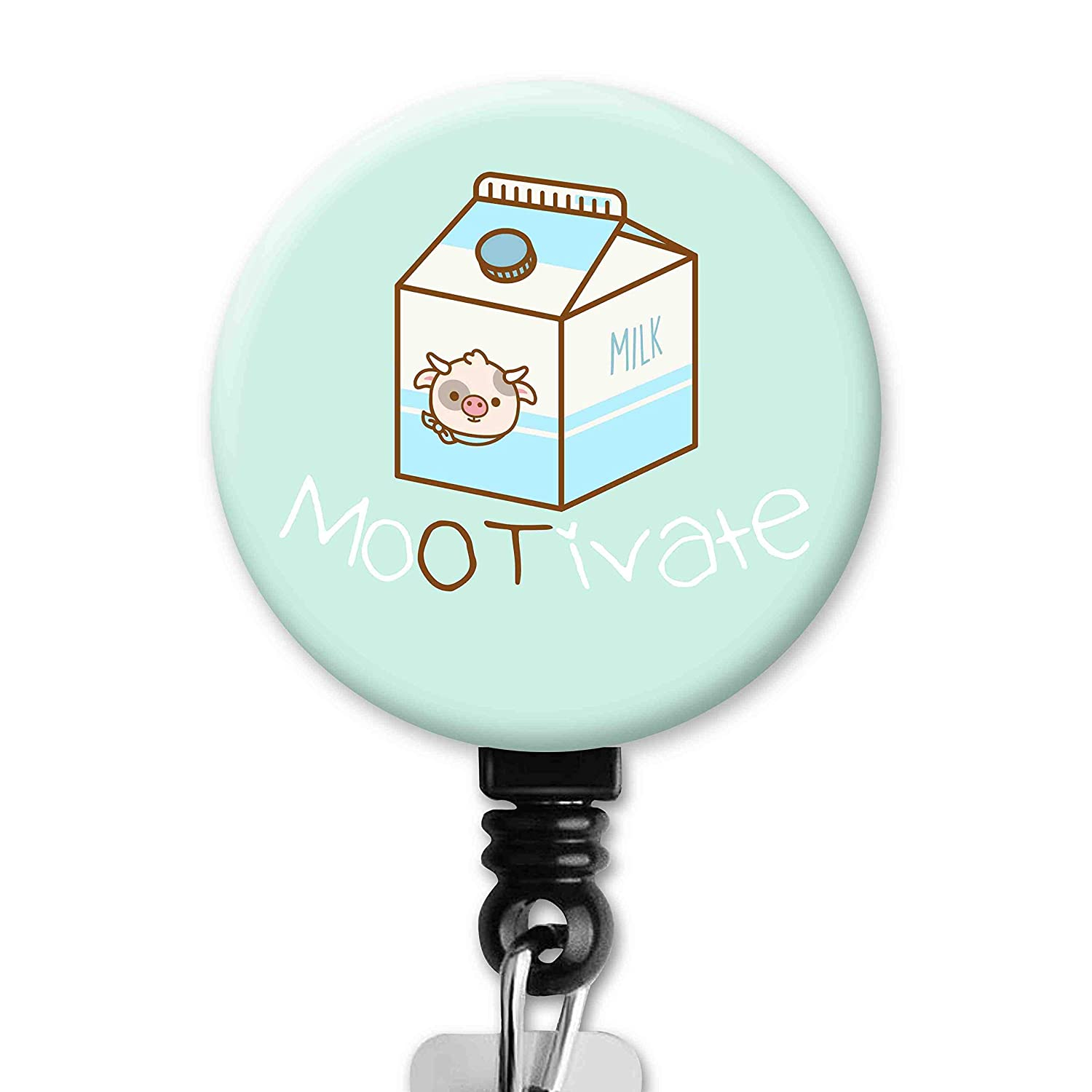 Amazon Com Mootivate Cow Milk Pastel Color Background Cute Occupational Therapy Therapist Ot Retractable Id Badge Reel Clip Handmade
