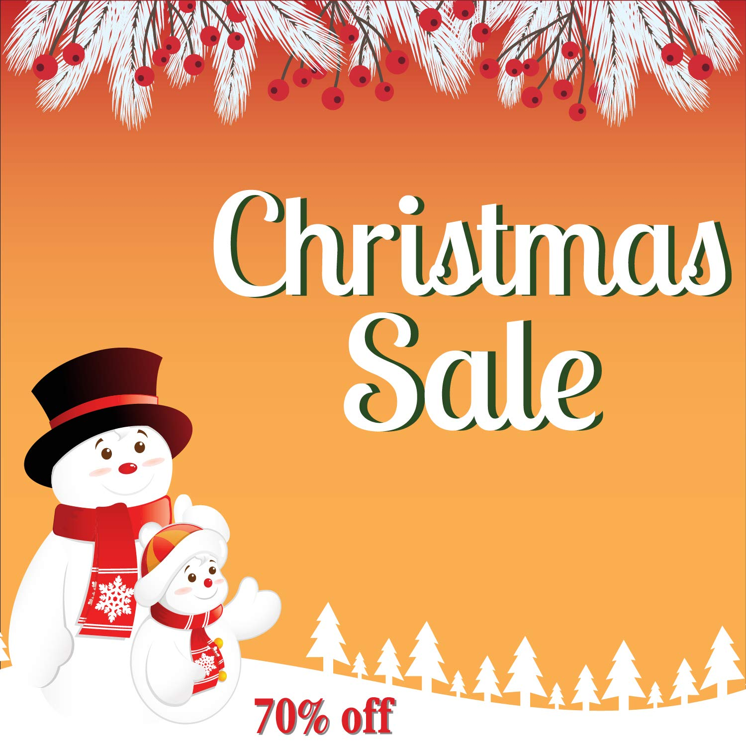 8f843c3ef8 Amazon.com: Christmas Sale Banner, Holiday Sale Advertising Banner Sign,  Heavy Duty 11 Oz Vinyl, Metal Grommets & Hemmed Edges, Perfect for Outdoor  Business ...
