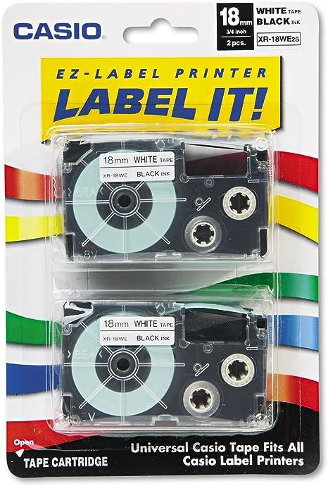 Black on Silver 2//Pack Tape Cassettes for KL Label Makers 9mm x 26ft