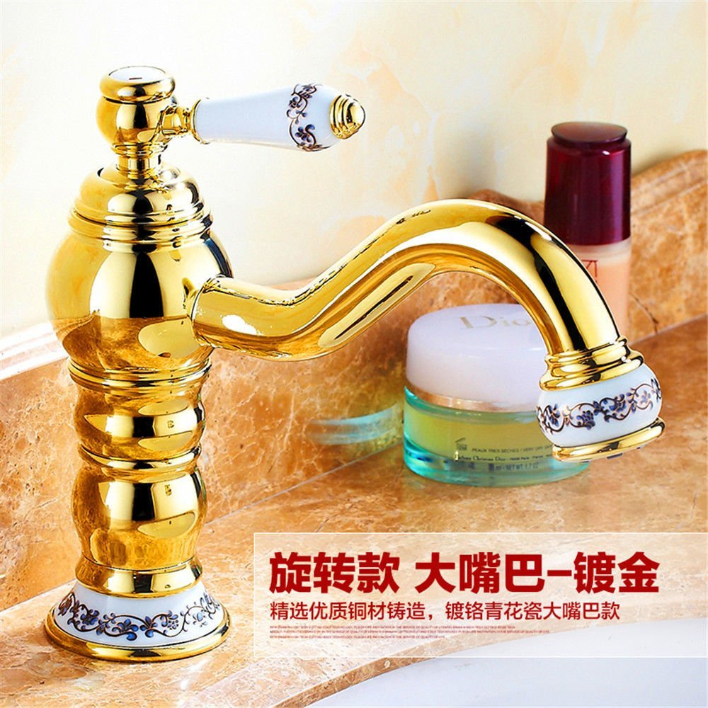 GAOLI Sink Taps Antique Faucet Antique Bathroom Basin Mixer Ancient Single Hole Faucets