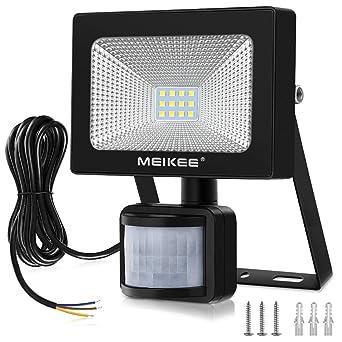 MEIKEE 10W Foco LED con Sensor Movimiento 1000LM, Mejoradoluz Foco ...