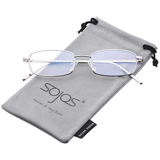 SOJOS Gafas de Sol Para Hombre Moda Rectangulares Marca Metal SJ1077