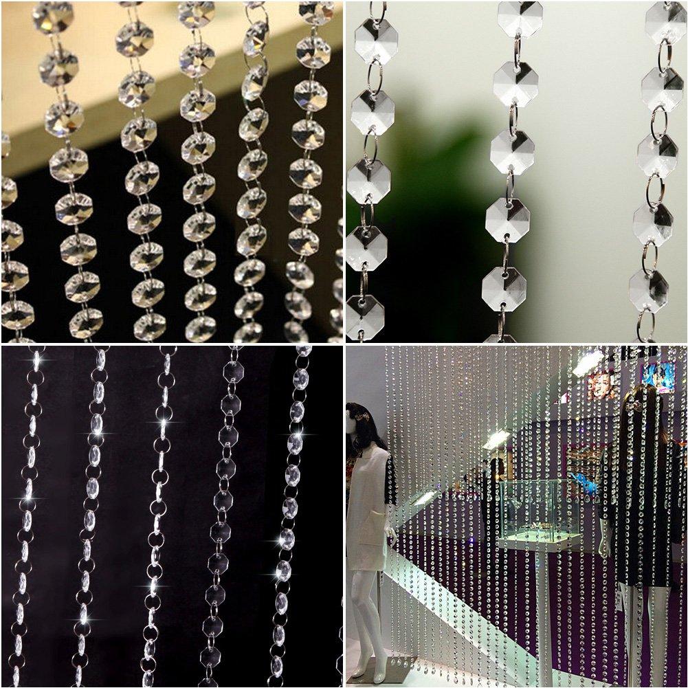 Amazon.com: Clear Acrylic Crystal Beads Strand Window Door Wedding Garland  Curtain: Home & Kitchen - Amazon.com: Clear Acrylic Crystal Beads Strand Window Door Wedding