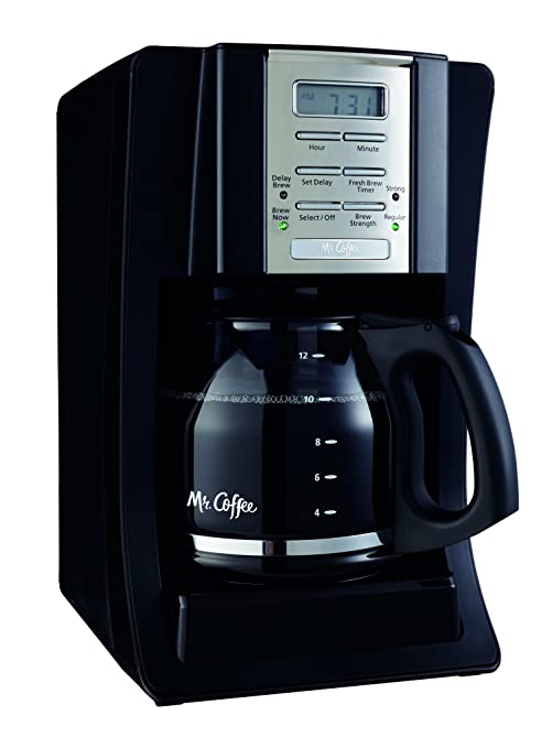 Amazon Mr Coffee 12 Cup Programmable Coffee Maker Black Drip